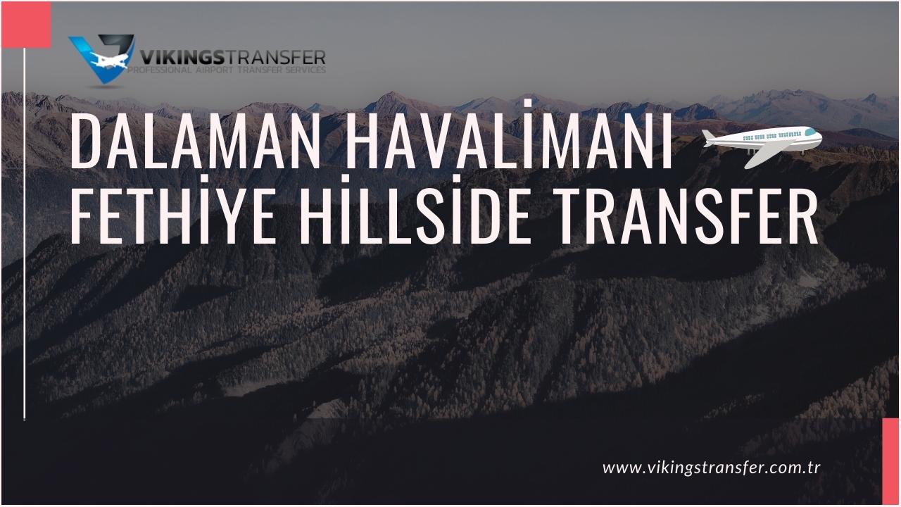 Dalaman havalimanı fethiye hillside transfer
